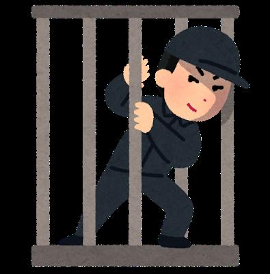 刑務所から逃げる人